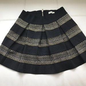 Black stripes short dress